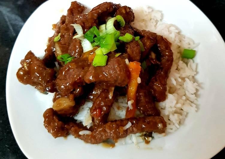 Mongolian Beef With Rice. 🤗
