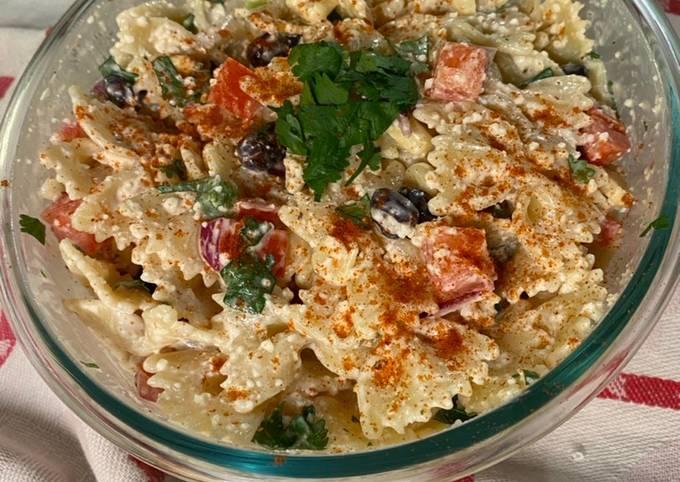 Recipe: Delicious Chef Miguel's Creamy Spicy Mexican Pasta Salad