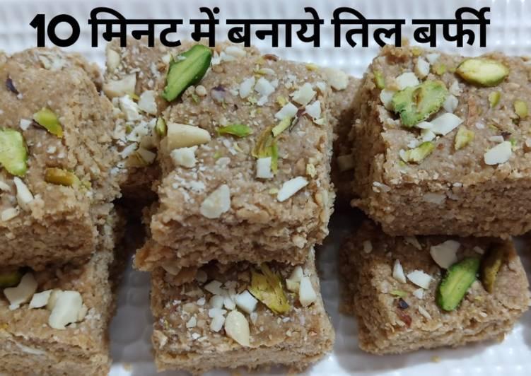 Sankranti special 10 min main banaye Til Barfi recipe