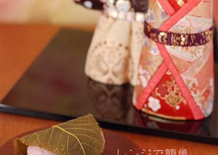 Easy Domyoji Sakura Mochi in the Microwave