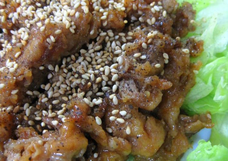 Your Health Can Be Effected By The Foods You Choose To Eat So Good! Sweet and Salty Nagoya-style Thinly Sliced Pork