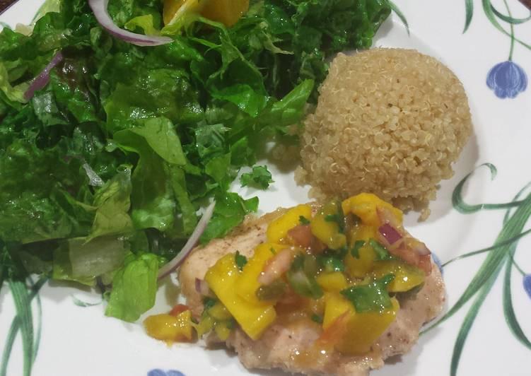 Simple Way to Make Perfect Tilapia with mango salsa