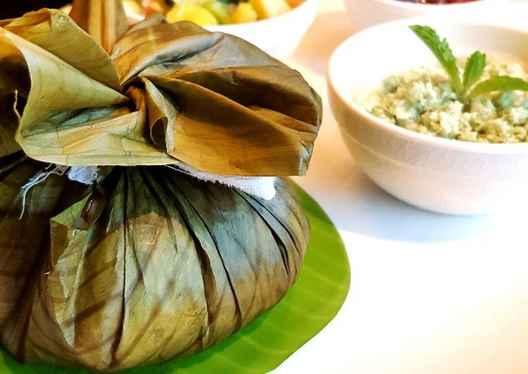 Steps to Prepare Perfect Malabar style spice potli mussels biriyani(kizhi biriyani)