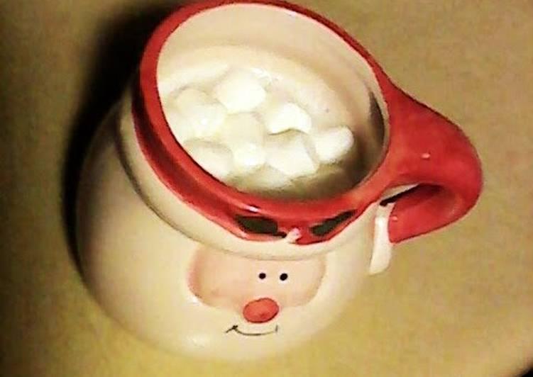 Simple Way to Make Homemade hot white chocolate