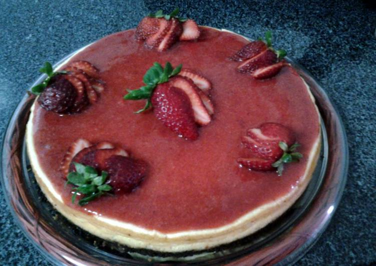 Strawberry Quark cheesecake