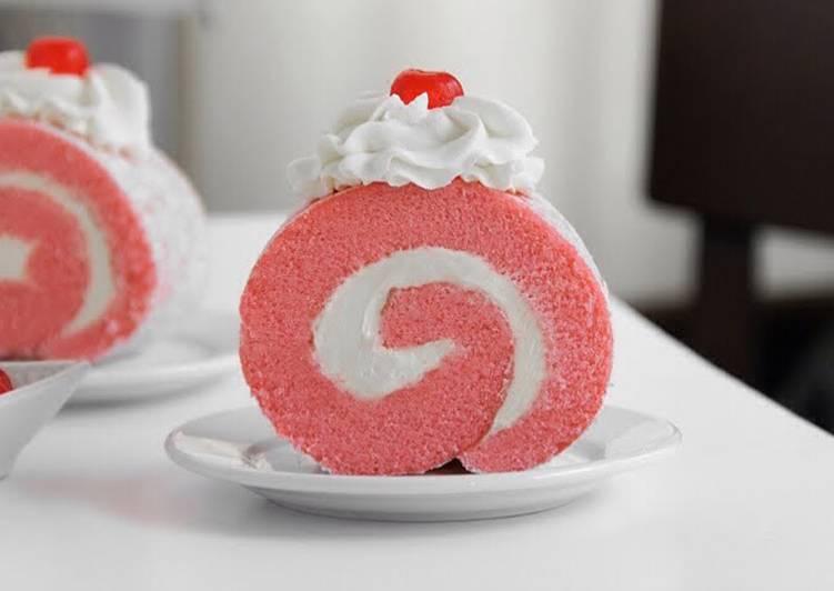 Pink Red velvet Rouland Cake