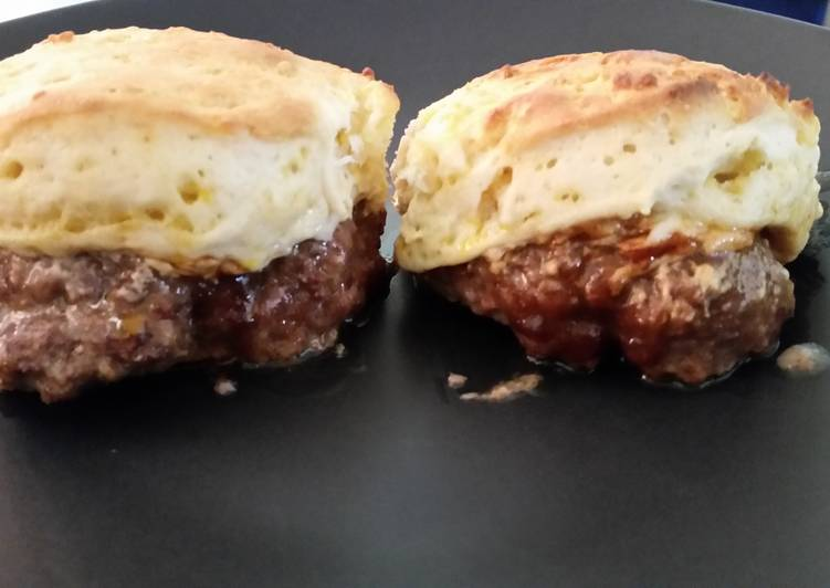 Biscuit Topped Burgers