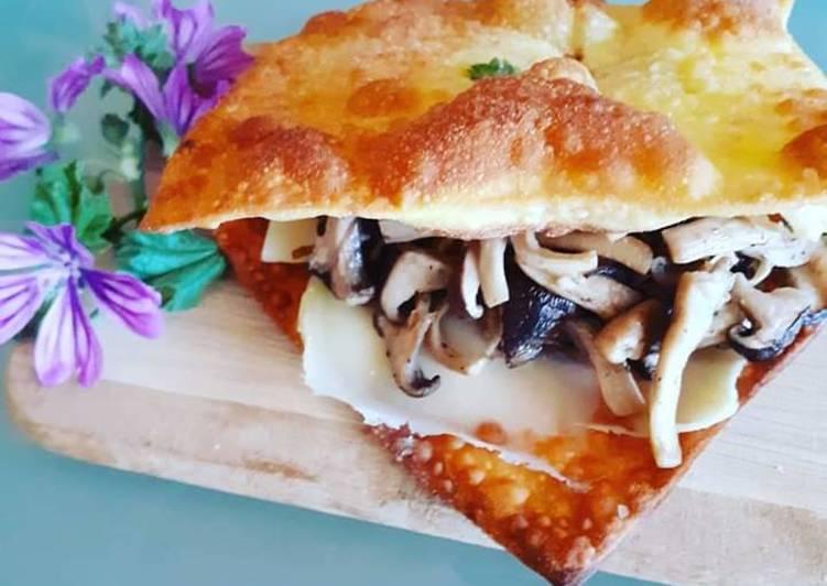 Recipe: Tasty Lasagna Fritta con fiori di Malva,Funghi Cardoncelli e Refolo