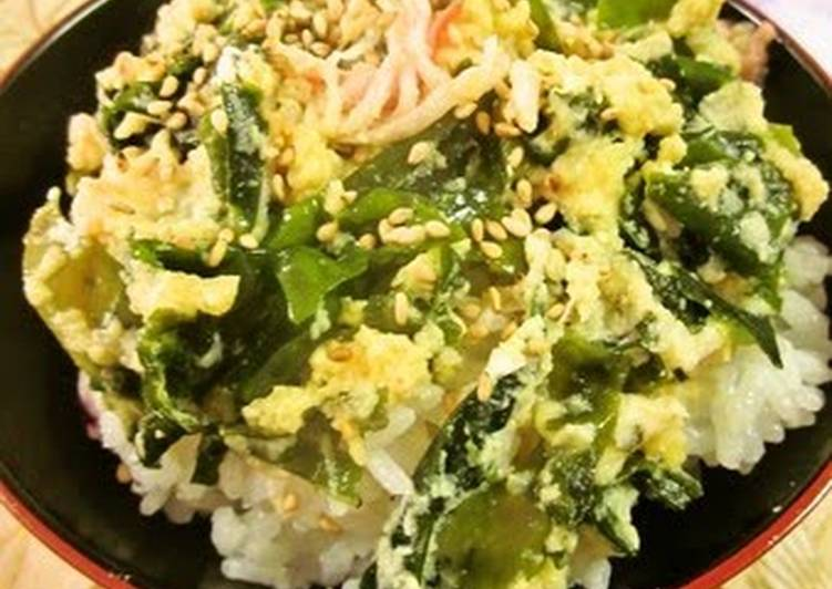 Okara Rice Bowl with Wakame