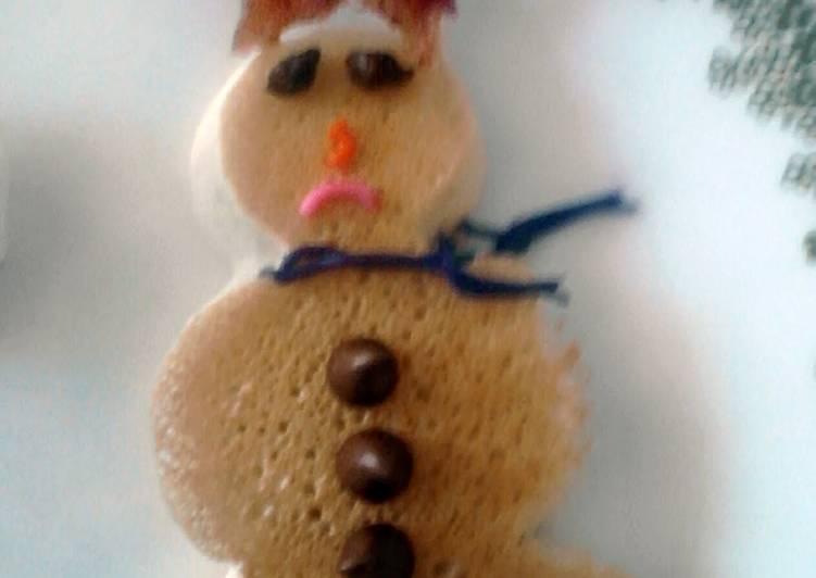 Recipe: Perfect Snowman Pancakes * christmas *