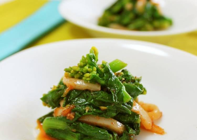 Nanohana and Squid with Gochujang