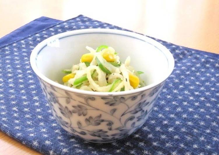 Try Using Food to Improve Your Mood Stir-Fried and Simmered Kiriboshi Daikon and Corn