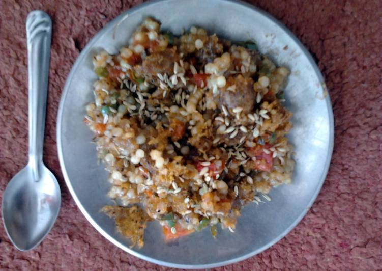 L.N.S. SABUDANA KHICHARI INDIAN BREAKFAST (VEGAN) . 2nd version.