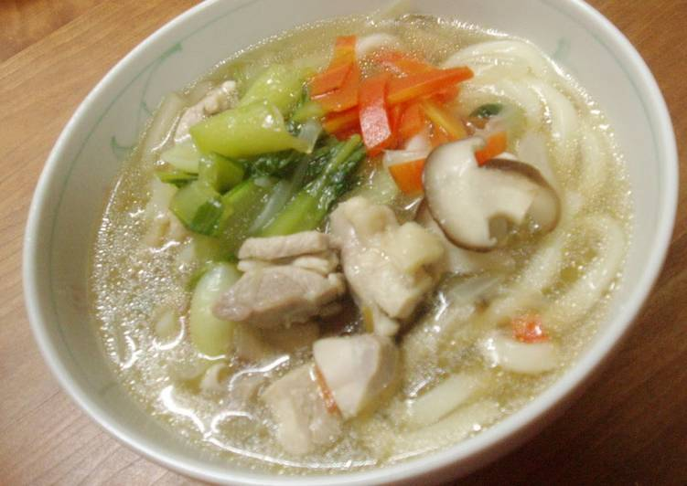 Simple Way to Prepare Favorite Comfort Chinese Udon Noodles with Chicken and Bok Choy