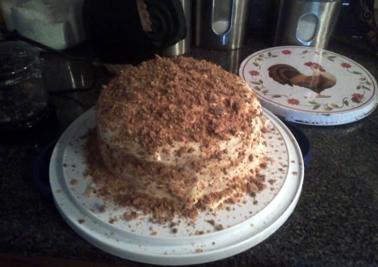 Steps to Prepare Speedy Butterfinger Cake