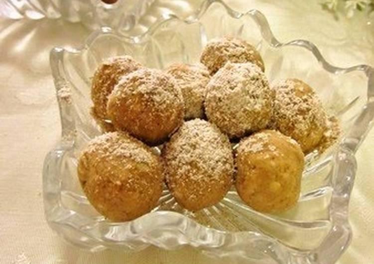 Steps to Prepare Homemade Okara, Oatmeal & Kinako Balls