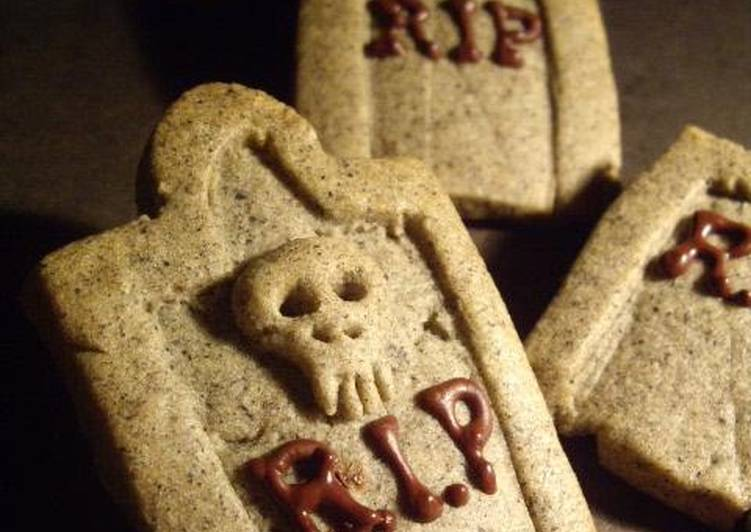 Tombstones and Castles Sesame Cookies for Halloween