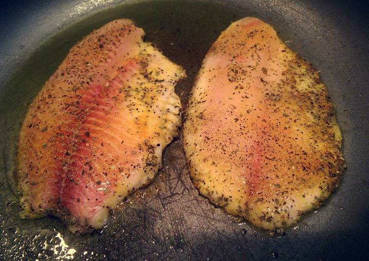 Seared tilapia - Laurie G Edwards