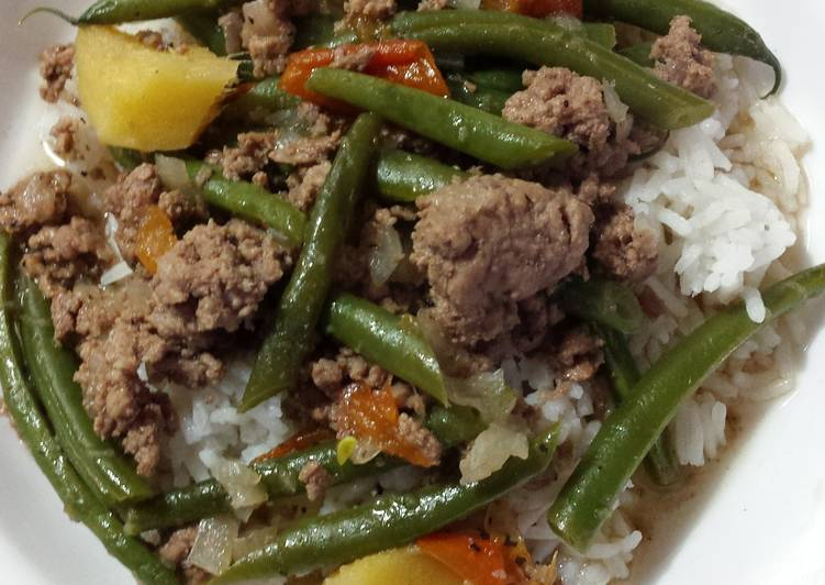 "Fastest Way to Prepare Tasty Healthy Filipino Green Bean ""Stew"""