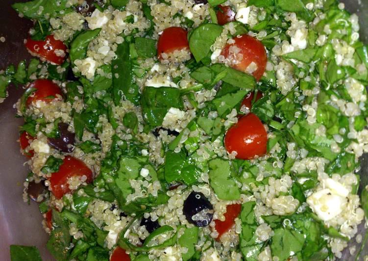 Mediteranean quinoa salad