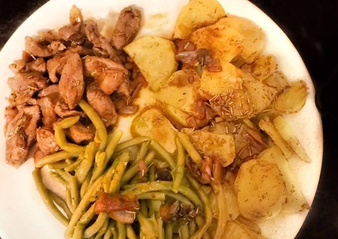 Canard sauce Fraise & Balsamique avec ses Pommes de terre salardaises et Brocolis