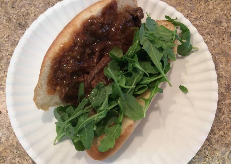Step-by-Step Guide to Make Ultimate Flank Steak In Sauce On Hoagie