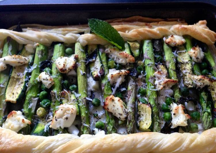 Step-by-Step Guide to Prepare Homemade Spring Fresh Asparagus and Goats Cheese Tart