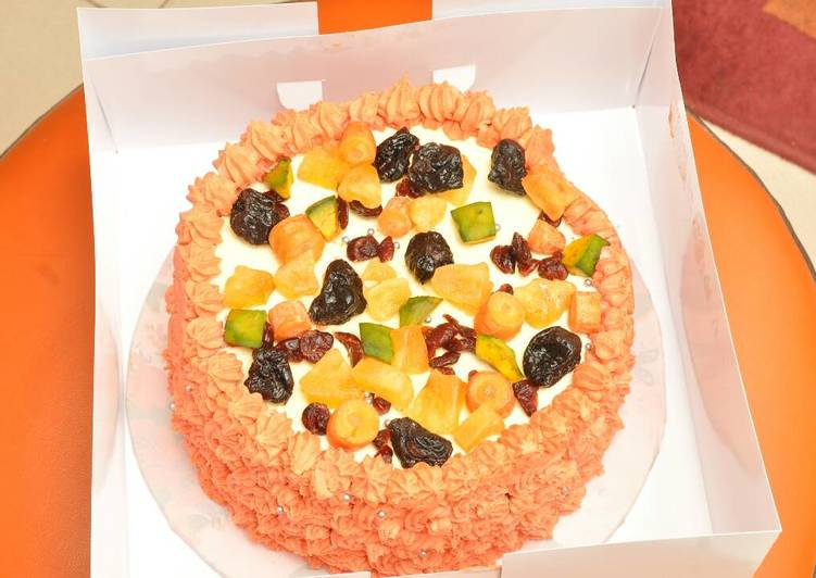 Step-by-Step Guide to Prepare Any-night-of-the-week Butter cream fruit cake