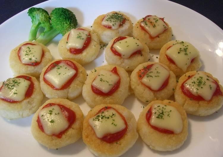 Okara Mochi Pizza Bites - Laurie G Edwards