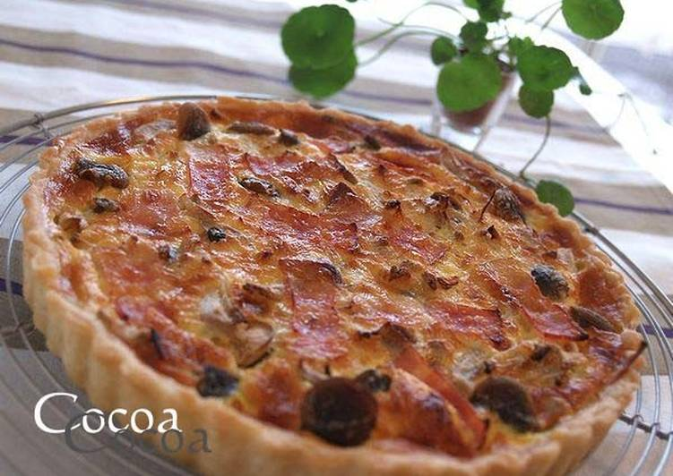 Recipe of Any-night-of-the-week Simple & Genuine Mushroom and Bacon Quiche
