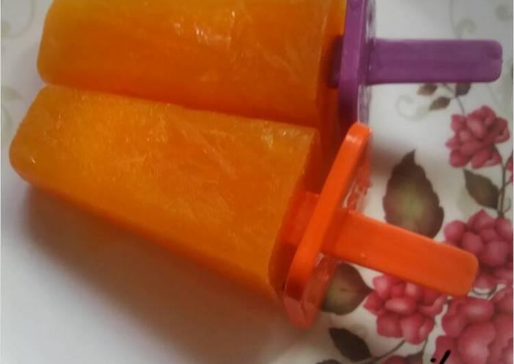 Orange icecream candy