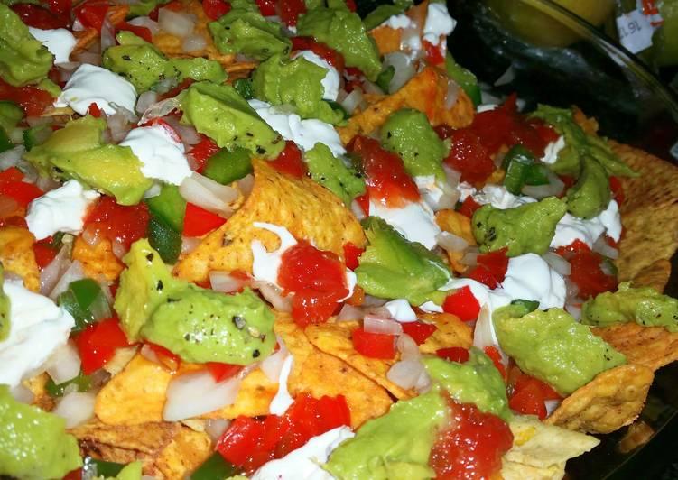 Crispy crunchy colourful nachos