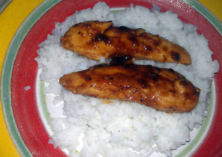 Steps to Prepare Perfect sweet n sour chicken over rice