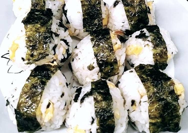 Bola Nasi Korea (Korean Rice Balls) Jumeokbap ala-ala