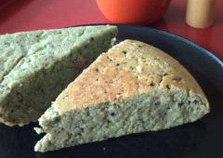 Matcha Okara Cake ☆ Made with Brown Sugar Syrup and Black Sesame - Laurie G Edwards