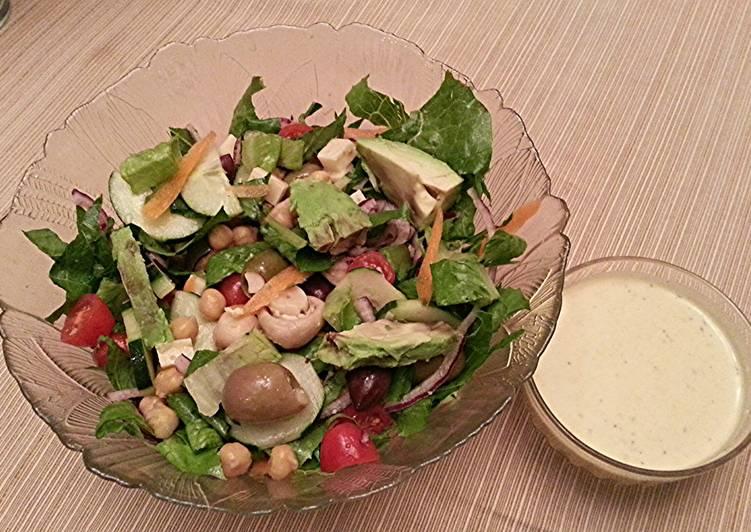Recipe of Perfect Veggie Salad Supreme with Golden Dijon Dressing