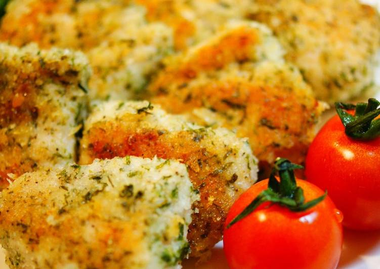 Recipe of Homemade Pan-fried Chicken with Nori Seaweed & Salted Breadcrumbs