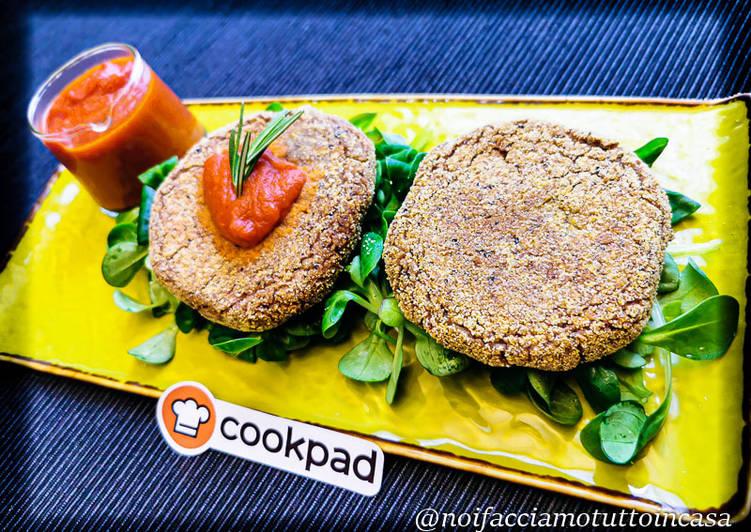 Hamburger di Fagioli Neri con Salsa Piccante