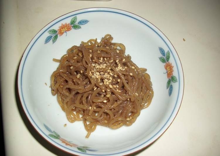 Recipe of Homemade Healthy Sesame-flavored Shirataki Noodles
