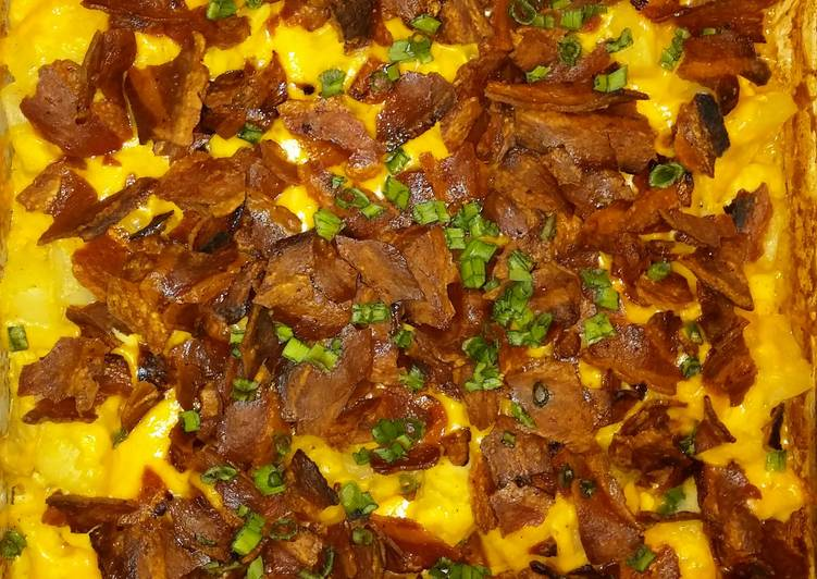 Easiest Way to Cook Delicious Chicken Potatoes Turkey Bacon Bake