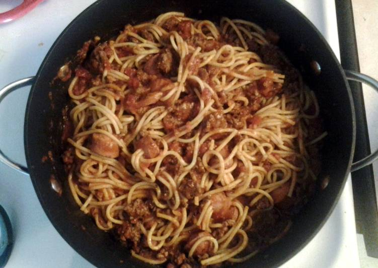 Recipe of Any-night-of-the-week hot dog spaghetti