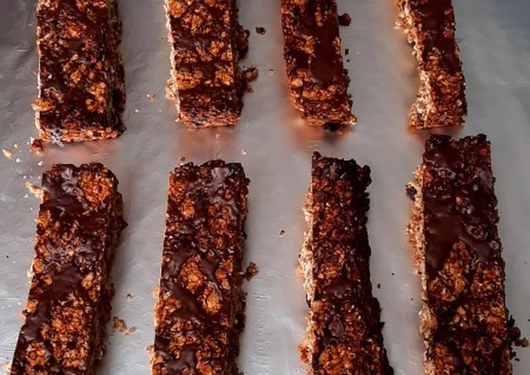 Barre de céréales au pepite de chocolat (Vegan)