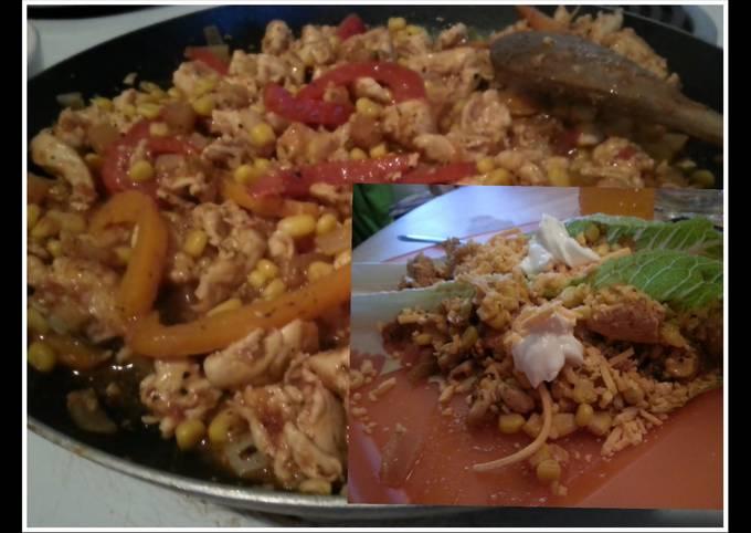 low calorie al pastor pineapple salsa chicken tacos