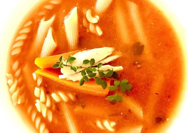 Zupa pomidorowa z pieczonych pomidorów główne zdjęcie przepisu