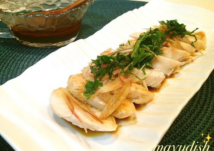 Easiest Way to Make Speedy Chicken Breast with Spicy and Refreshing Wasabi Sauce