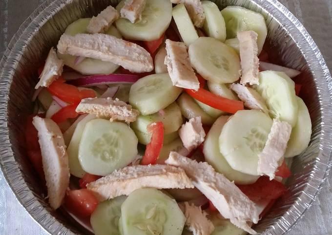 Cucumber Salad w/ Grilled Chicken