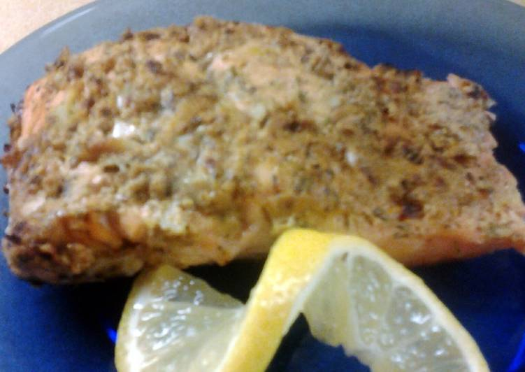 Garlic Herbed Dijon Salmon