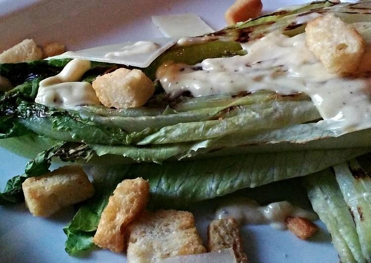 Steps to Prepare Homemade Grilled Caesar Salad