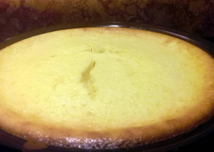 Easy Crustless Cheesecake