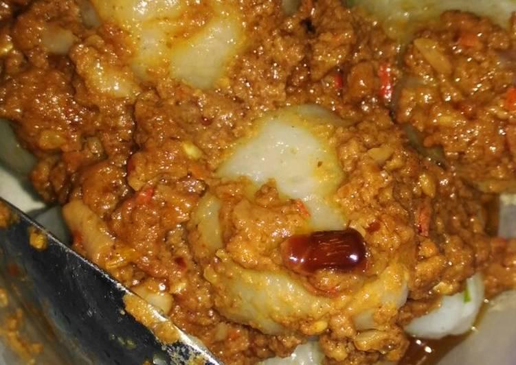 Cilok bumbu kacang sederhana